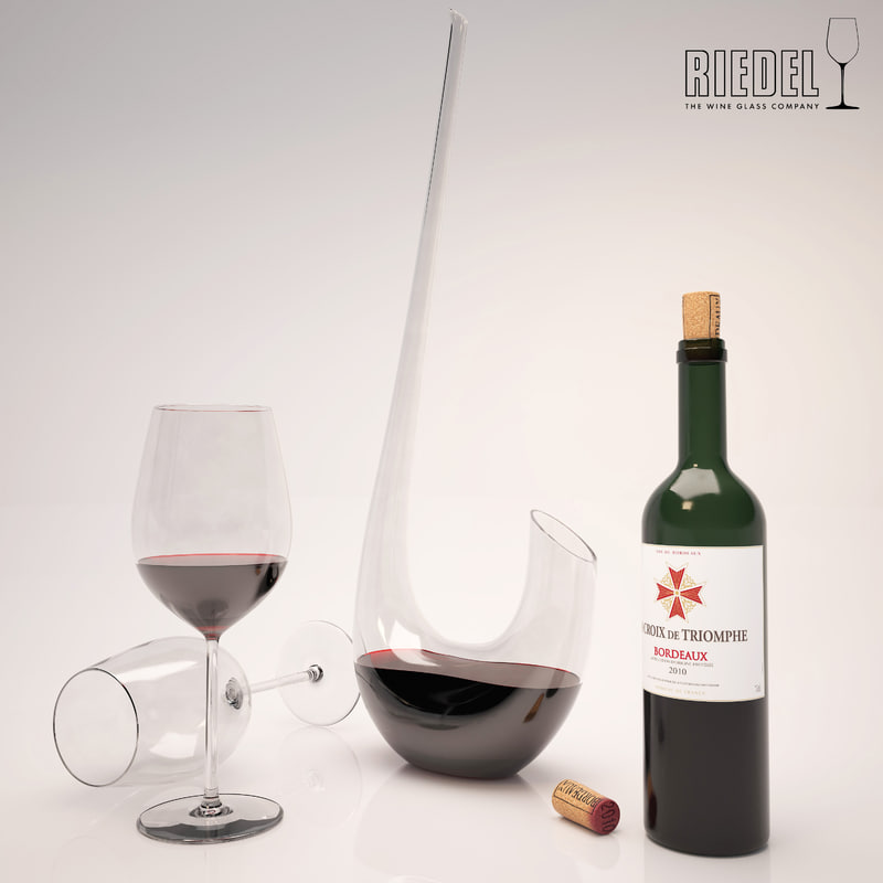 riedel decanter glass 3d model