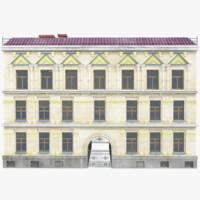 vintage house 3d max