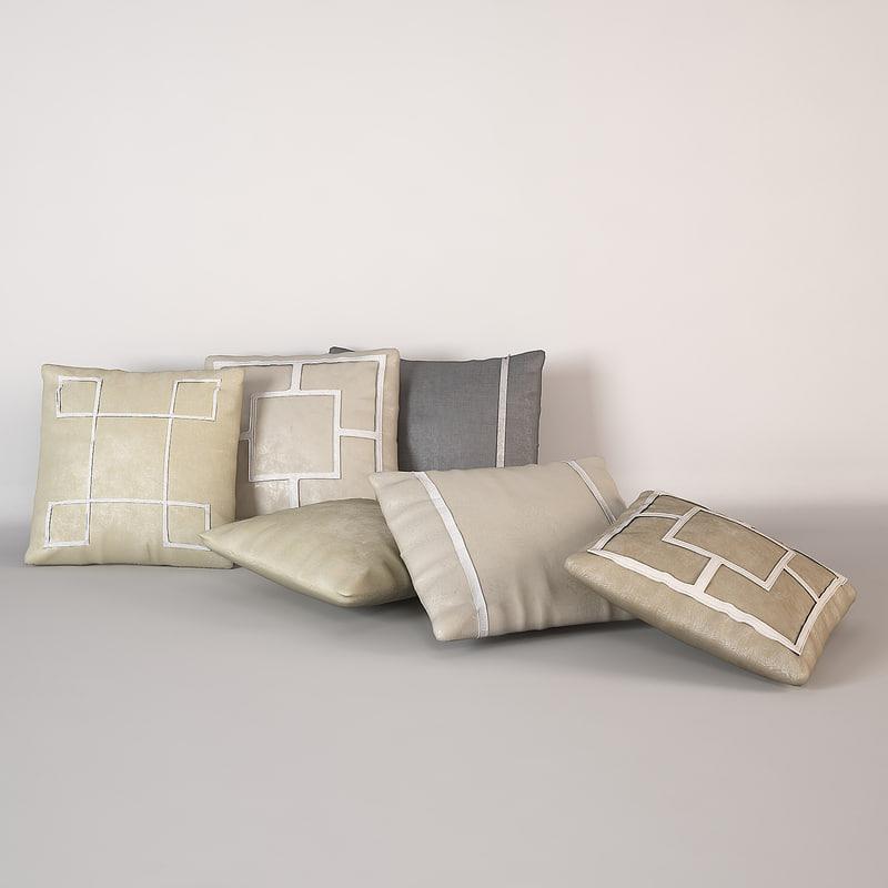 baker pillows 3d model