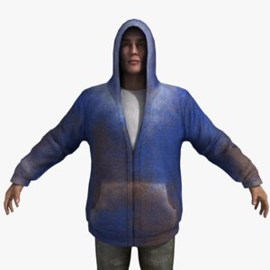 3d rigged character hoodie