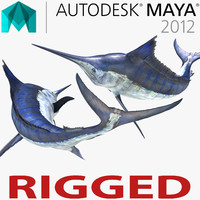 Blue Marlin Rigged for Maya
