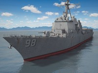 3d model uss forrest sherman