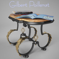 Coffe table by Gilbert Poillerat 30's