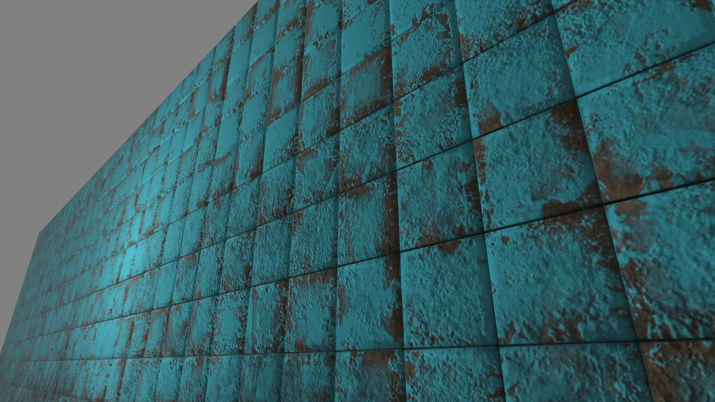 free old tile 3d model