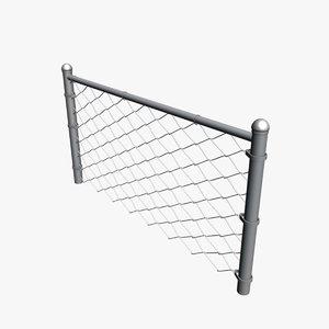 fence 3d obj