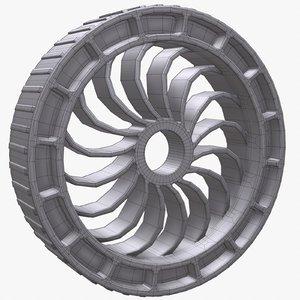 robot wheel 3d 3ds
