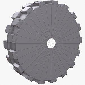 wheel 7 robot 3d fbx
