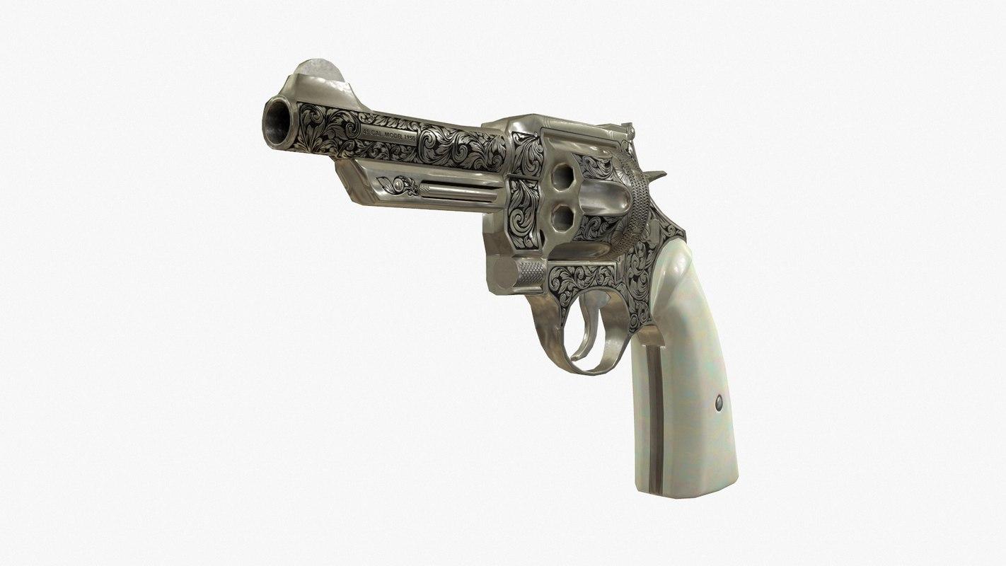 obj engraved revolver