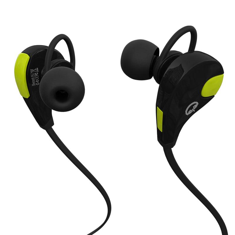 3d bluetooth headphones model