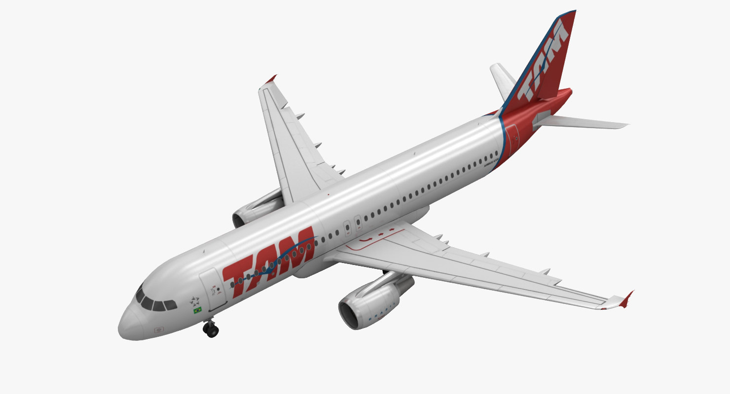 3d airbus a320 tam airlines model