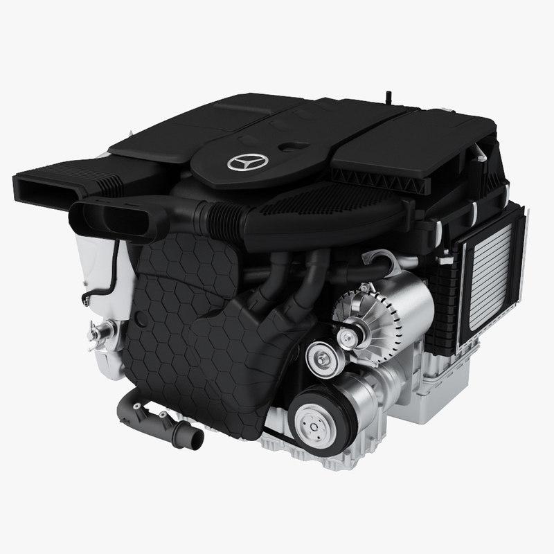 mercedes diesel engine om654 3d max