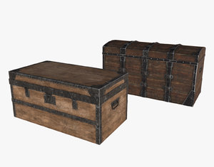 low-poly chests 3d max