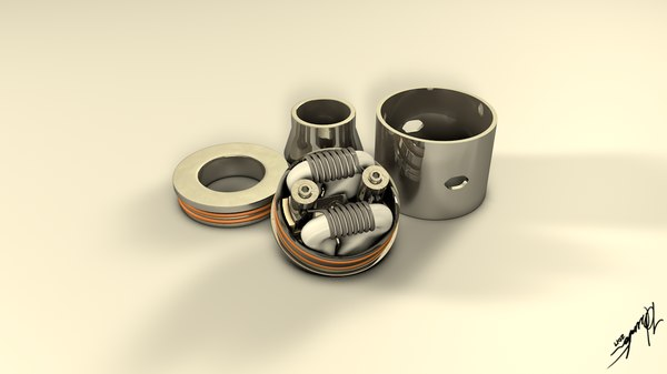 3d dripping atomizer coiled model