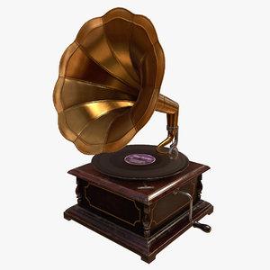 obj gramophone