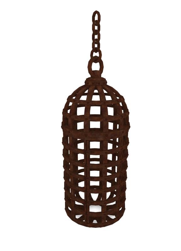 3d model medieval cage