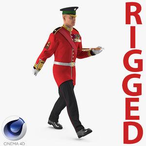 3d irish guard sergeant rigged model