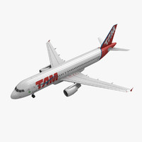 3d obj airbus a320 tam airlines