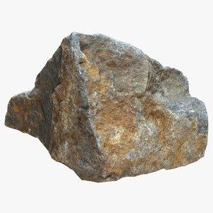 rock scan 3d obj