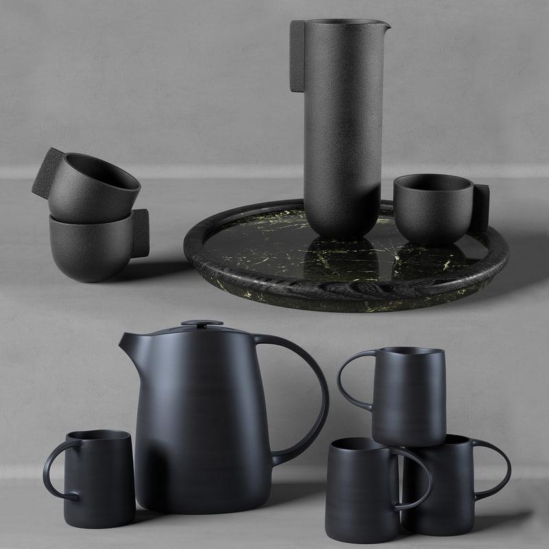 kitchen set w002 dark 3d max