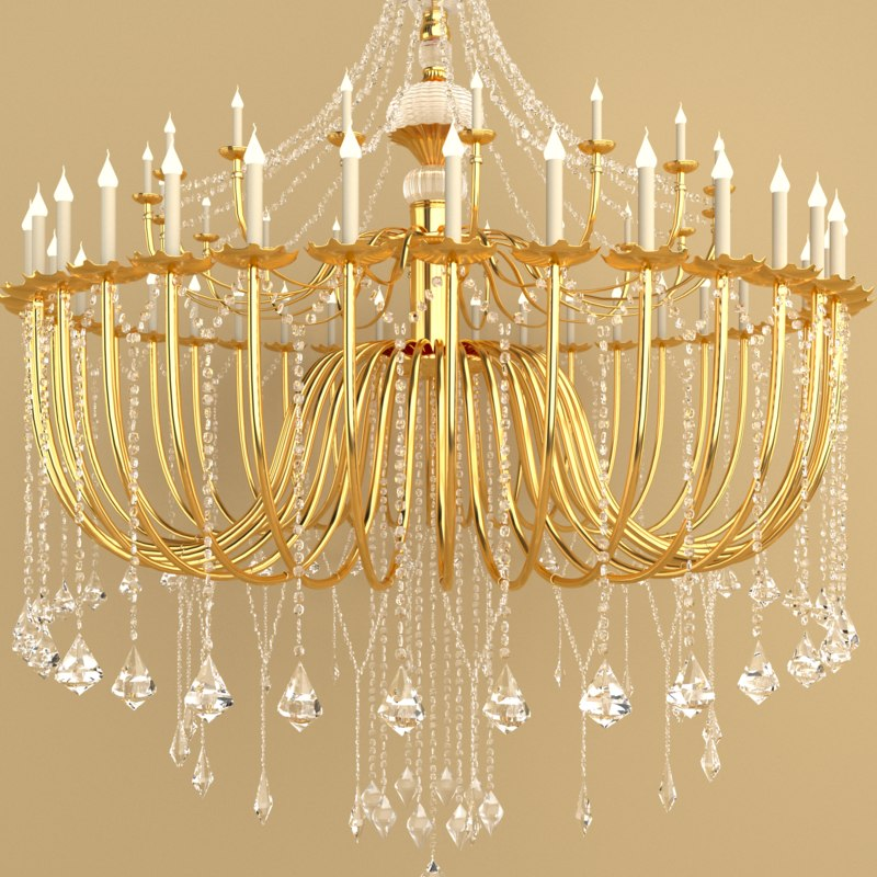 Free max model rendering corona light large chandelier for corona mozeypictures Images