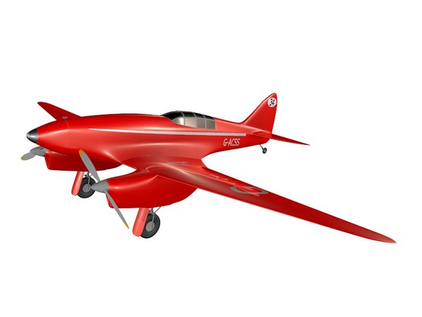 havilland dh 88 3d model
