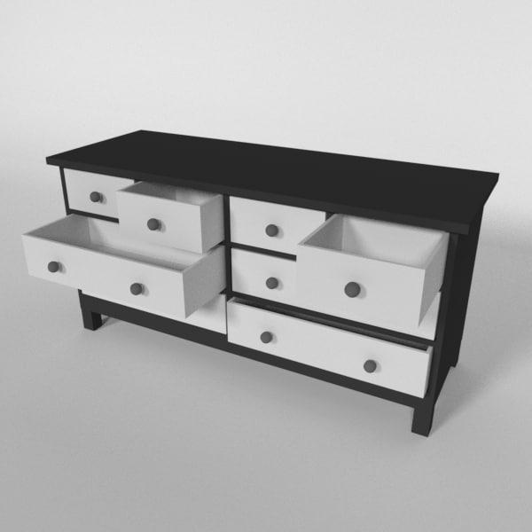 free bureau 3d model. Black Bedroom Furniture Sets. Home Design Ideas