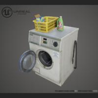washer dryer pbr 3d max