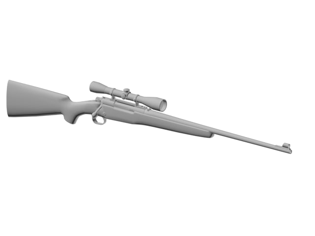 3d model hunting rifle