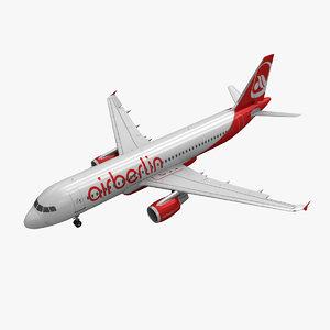 airbus a320 air animation 3d obj