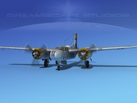 douglas b-26b b-26 bomber 3d obj