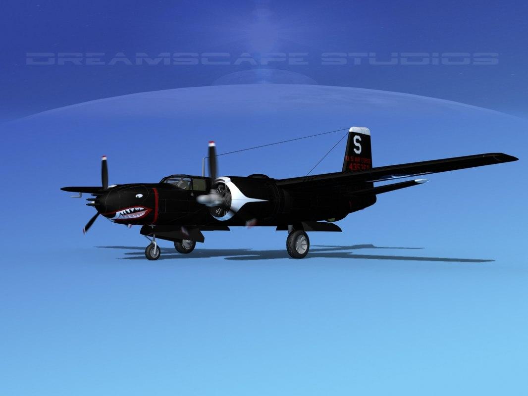dwg douglas b-26b b-26 usaf
