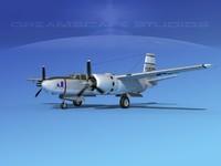 douglas b-26b b-26 bomber 3d model
