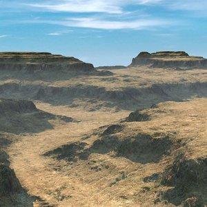 obj canyon terrain landscape