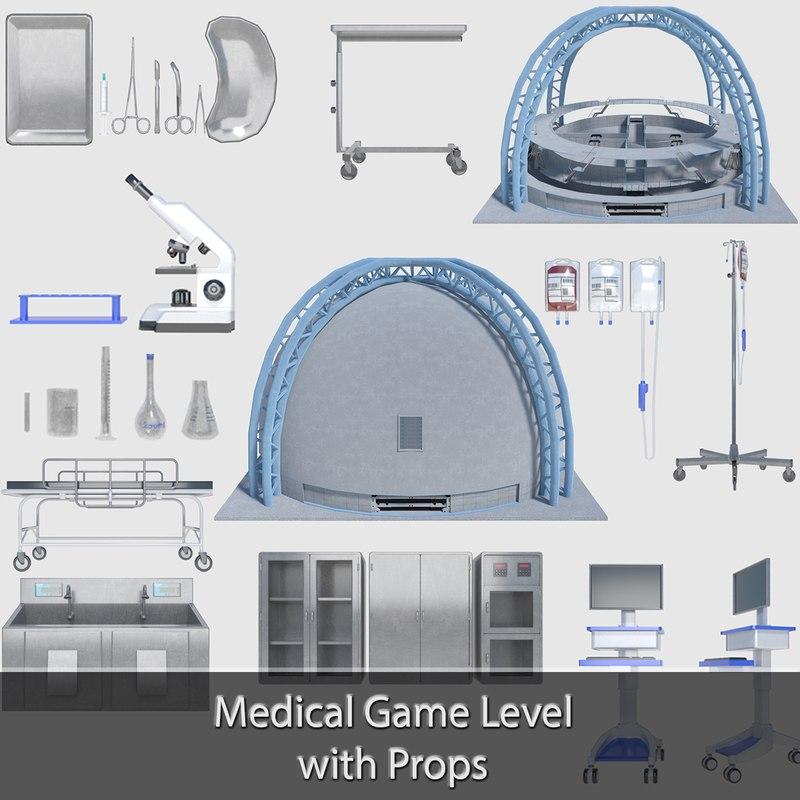 3d medical props pack building