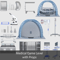 Medical Building with Props - Game Level Pack