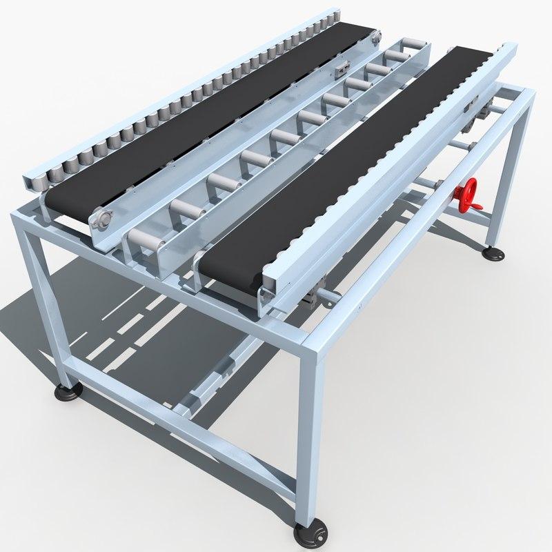 3d model of belt conveyor line 01