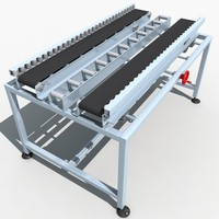 3d model of belt conveyor line 01
