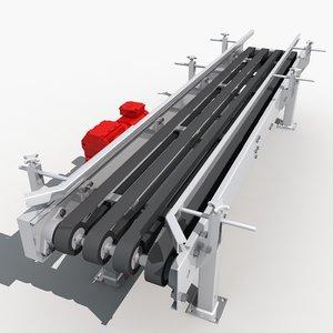 belt conveyor line 03 3d max