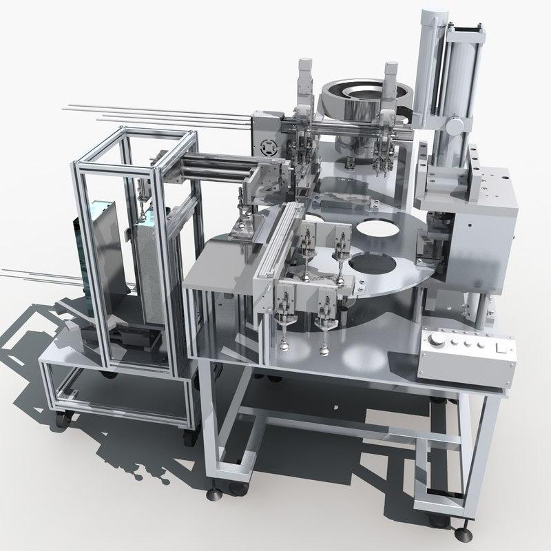 warehouse interior machine 3d model