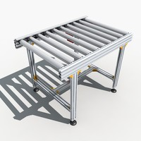 3d roller conveyor 03 model