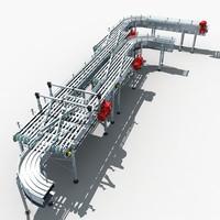 roller conveyor 02 3d model