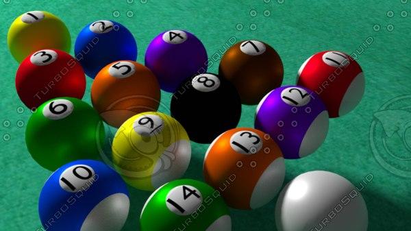 3d billiards ball