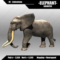 3d model elephant africa