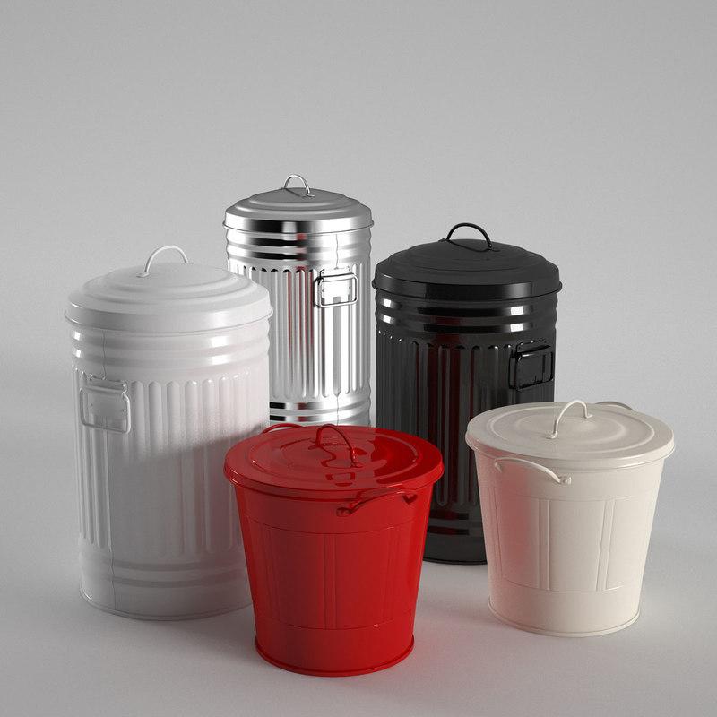 3d model habitat alto kitchen bins