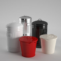 3d model habitat alto kitchen bins