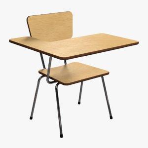 school desk 3ds