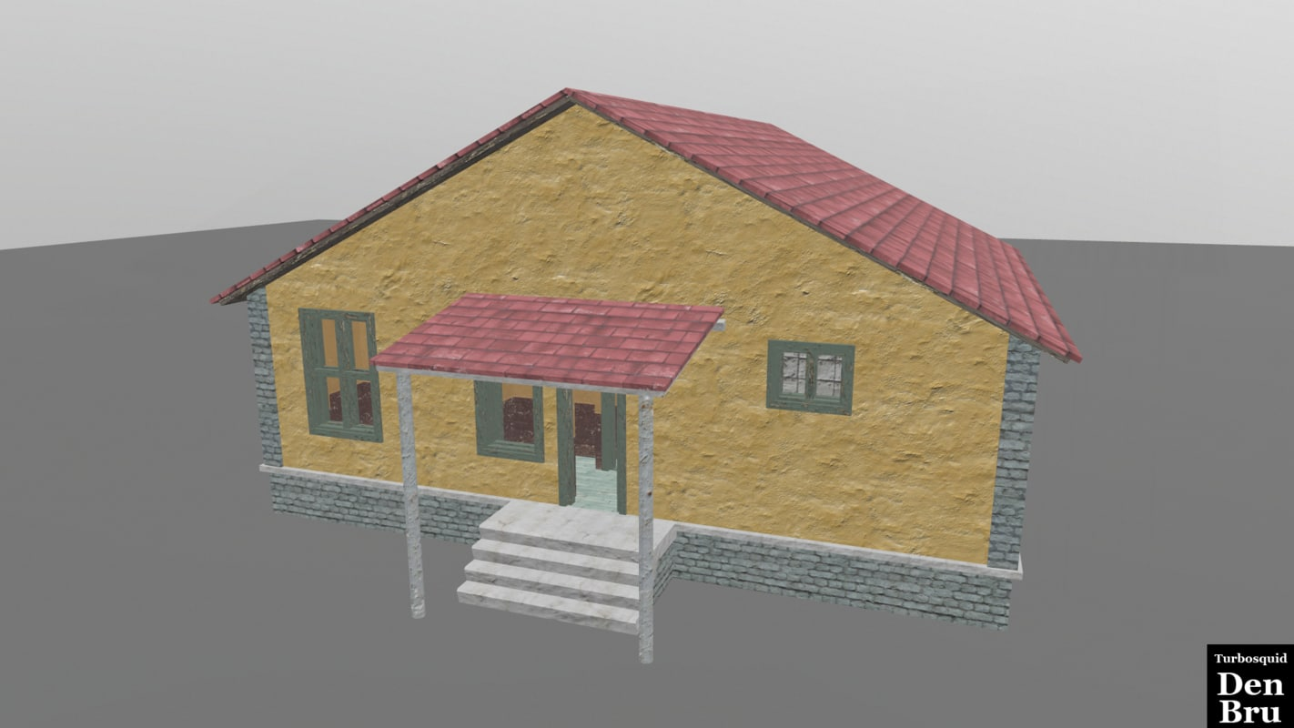 3d old brick house