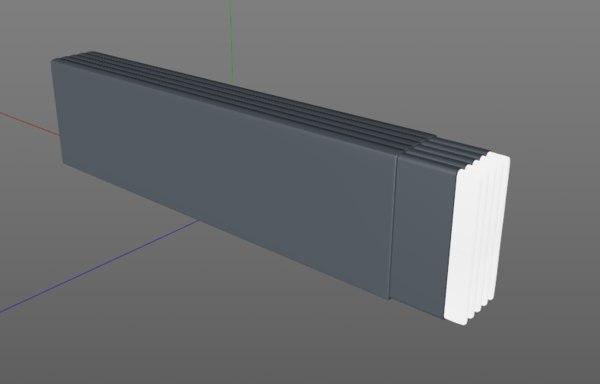 3d model sticky gum bar