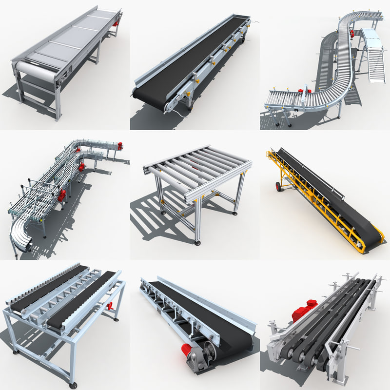 conveyor belt 3d max