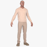 3d model man trousers sweaters